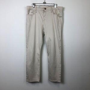 NWT Gap 1969 Ivory Color Legging Jeans